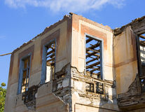 Ruins after earthquake. Ruins of an old house after a wtrong earthquake Royalty Free Stock Images