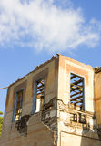 Ruins after earthquake. Ruins of an old house after a wtrong earthquake Royalty Free Stock Photography