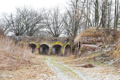 The ruins of the Eastern fort, Brest Royalty Free Stock Photography