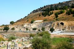 Ruins in Efes , near Mary church Royalty Free Stock Photos