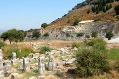 Ruins in Efes , near Mary church Royalty Free Stock Photo