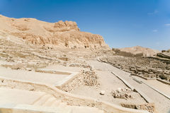 Ruins of Egyptian Deir el-Medina Stock Image