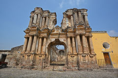 The ruins of the El Carmen church Stock Image