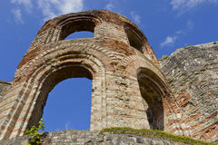 Ruins of the emperors in Trier stock photos