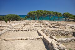 Ruins of Empuries Royalty Free Stock Photos