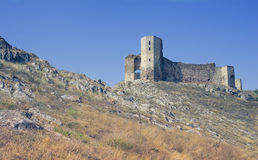 Ruins of Enisala fortress, Romania Royalty Free Stock Photos
