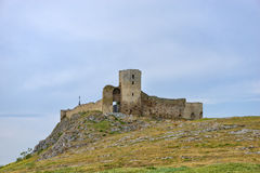 Ruins of Enisala - medieval fortress in Dobrogea Stock Photos