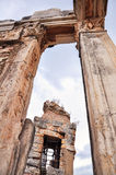 Ruins in Ephesus. This image was taken in Ephesus, Turkey. An ancient city of Turkey, there are many destroyed statues and ruins there with very attractive Royalty Free Stock Image