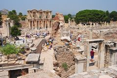 The ruins of Ephesus. Royalty Free Stock Photo