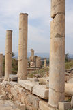 Ruins of Ephesus, Turkey. Stony columns on a colonnade - ruins of the antique city Ephesus, Turkey Stock Image