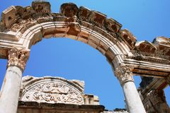 The ruins of Ephesus Turkey Stock Photos