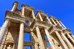 The Ruins at Ephesus, Turkey. The spectacular Library of Celcus in the ruins of Ephesus, near Kusadasi, Turkey Stock Photos