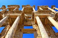 The Ruins at Ephesus, Turkey. The spectacular Library of Celcus in the ruins of Ephesus, near Kusadasi, Turkey Royalty Free Stock Image