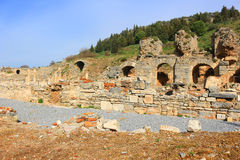 Ruins in Ephesus, Turkey Royalty Free Stock Photography