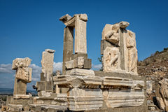Ruins of Ephesus. View showing parts of statue in a state of re-assembly, Ephesus, Turkey Stock Photos