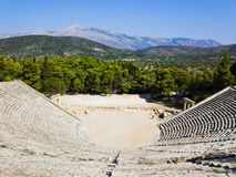 Ruins of Epidaurus amphitheater Stock Photo
