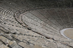 Ruins of epidaurus theater, peloponnese, greece Stock Photos