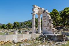 Ruins in Epidavros, Greece royalty free stock photo