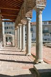 Amazing view of ruins of Episcopal complex with basilica in town of Sandanski, Bulgaria Stock Image