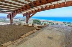 Ruins of Eustolios house at Kourion on Cyprus Royalty Free Stock Photo