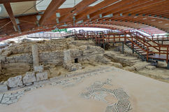 Ruins of Eustolios house at Kourion on Cyprus. Ruins of Eustolios house at ancient town Kourion on Cyprus Stock Image