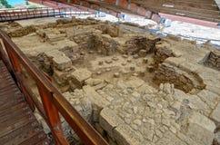 Ruins of Eustolios house at Kourion on Cyprus. Ruins of Eustolios house at ancient town Kourion on Cyprus Royalty Free Stock Photos