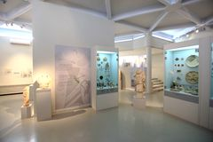 Ruins exhibition, archeological museum of Thassos Stock Photography