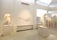 Ruins exhibition, archeological museum of Thassos Royalty Free Stock Image