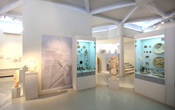 Ruins exhibition, archeological museum of Thassos Royalty Free Stock Images