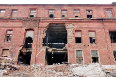 Ruins of the facade of the building Royalty Free Stock Photography