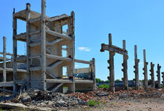The ruins of the factory Stock Images