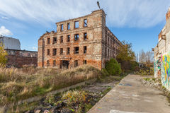 The ruins of the factory Stock Photo
