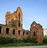 Ruins factory in Ozyory. Moscow Oblast Stock Images