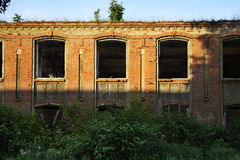 Ruins factory in Ozyory. Moscow Oblast Royalty Free Stock Photos
