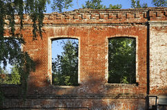 Ruins factory in Ozyory. Moscow Oblast Royalty Free Stock Photo