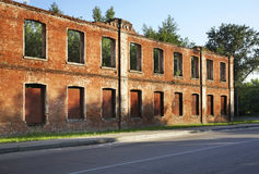 Ruins factory in Ozyory. Moscow Oblast Stock Photo
