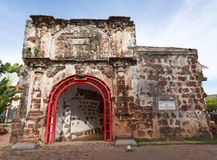 Ruins of the A Famosa Portuguese Fortress at Malacca Malaysia Royalty Free Stock Image