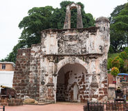 Ruins of the A Famosa Portuguese Fortress at Malacca Malaysia Royalty Free Stock Images