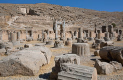 Ruins of the famous abandoned city Persepolis Royalty Free Stock Images