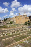 Ruins of famous ancient Roman Forum, Rome, Italy Stock Photography