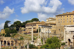 Ruins of famous ancient Roman Forum, Rome, Italy Royalty Free Stock Image