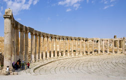 Ruins of the famous archaeological city of Jerash in Jordan Stock Images