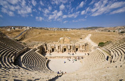 Ruins of the famous archaeological city of Jerash in Jordan Royalty Free Stock Image