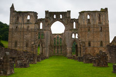 Ruins of famous Riveaulx Abbey, England Royalty Free Stock Photography
