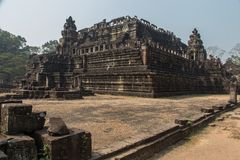 Ruins of the famous Temple of Doom. Ancient ruins of the temple of doom at the historic Angkor Wat complex near Siem Reap Cambodia. Famous Buddhist religious Stock Photography