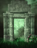 Ruins and fantasy garden Stock Image
