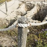 Ruins fenced with a rope Stock Photography