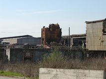 Ruins of Ferrero steelworks in Settimo Torinese royalty free stock images
