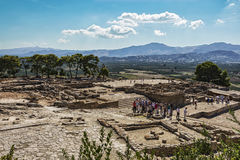 Ruins of the Festa Palace on the island of Crete Greece Royalty Free Stock Photo