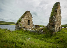 The ruins of Finlaggan, Islay. Scotland. Royalty Free Stock Photography